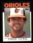1986 Topps #55  Fred Lynn  Front Thumbnail