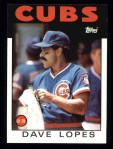 1986 Topps #125  Dave Lopes  Front Thumbnail