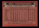 1986 Topps #177  Joel Youngblood  Back Thumbnail