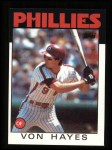 1986 Topps #420  Von Hayes  Front Thumbnail