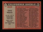1986 Topps #81  Gene Mauch  Back Thumbnail