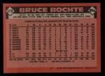 1986 Topps #378  Bruce Bochte  Back Thumbnail