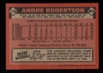 1986 Topps #738  Andre Robertson  Back Thumbnail