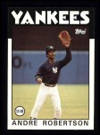 1986 Topps #738  Andre Robertson  Front Thumbnail