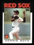 1986 Topps #605  Dennis Boyd  Front Thumbnail