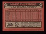 1986 Topps #37  Mark Thurmond  Back Thumbnail