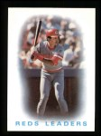 1986 Topps #366   Reds Leaders Front Thumbnail
