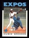 1986 Topps #555  Hubie Brooks  Front Thumbnail