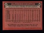 1986 Topps #566  Alfredo Griffin  Back Thumbnail