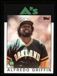 1986 Topps #566  Alfredo Griffin  Front Thumbnail