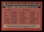 1986 Topps #246   -  Steve Carlton Phillies Leaders Back Thumbnail