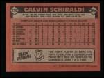 1986 Topps #210  Calvin Schiraldi  Back Thumbnail