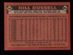 1986 Topps #506  Bill Russell  Back Thumbnail