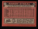 1986 Topps #73  Randy O'Neal  Back Thumbnail