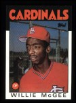 1986 Topps #580  Willie McGee  Front Thumbnail