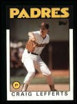 1986 Topps #244  Craig Lefferts  Front Thumbnail