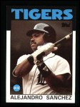 1986 Topps #563  Alejandro Sanchez  Front Thumbnail