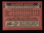 1986 Topps #563  Alejandro Sanchez  Back Thumbnail