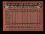 1986 Topps #256  Kurt Kepshire  Back Thumbnail