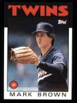 1986 Topps #451  Mark Brown  Front Thumbnail
