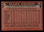 1986 Topps #451  Mark Brown  Back Thumbnail
