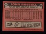 1986 Topps #392  John Russell  Back Thumbnail