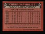 1986 Topps #293  Chris Chambliss  Back Thumbnail
