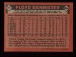 1986 Topps #64  Floyd Bannister  Back Thumbnail