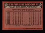 1986 Topps #137  Charlie Moore  Back Thumbnail