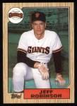 1987 Topps #389  Jeff D. Robinson  Front Thumbnail