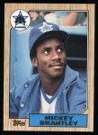 1987 Topps #347  Mickey Brantley  Front Thumbnail