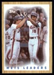 1987 Topps #331   -  Darryl Strawberry / Gary Carter Mets Leaders / Carter / Straw Front Thumbnail