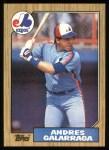 1987 Topps #272  Andres Galarraga  Front Thumbnail