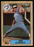 1987 Topps #122  Jim Clancy  Front Thumbnail