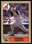 1987 Topps #405  Brook Jacoby  Front Thumbnail