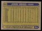 1987 Topps #682  Jerry Reuss  Back Thumbnail