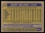 1987 Topps #137  Jerry Willard  Back Thumbnail