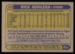 1987 Topps #103  Rick Aguilera  Back Thumbnail
