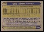 1987 Topps #486  Otis Nixon  Back Thumbnail