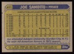1987 Topps #451  Joe Sambito  Back Thumbnail