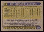 1987 Topps #637  Bip Roberts  Back Thumbnail