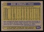 1987 Topps #175  Bob Stanley  Back Thumbnail