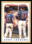1987 Topps #581   Cubs Team Front Thumbnail