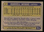 1987 Topps #37  Marvell Wynne  Back Thumbnail