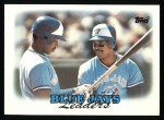 1988 Topps #729   -  George Bell / Fred McGriff Blue Jays Leaders Front Thumbnail