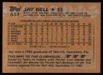 1988 Topps #637  Jay Bell  Back Thumbnail