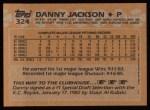 1988 Topps #324  Danny Jackson  Back Thumbnail
