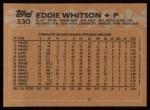 1988 Topps #330  Eddie Whitson  Back Thumbnail