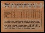 1988 Topps #112  Les Lancaster  Back Thumbnail