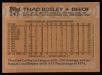 1988 Topps #247  Thad Bosley  Back Thumbnail
